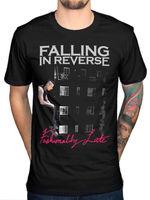 Modaya Geç t gömlek erkekler Falling In Ters Ters S-3xl Damlayan Dudaklar Hediye rahat tee ABD ize