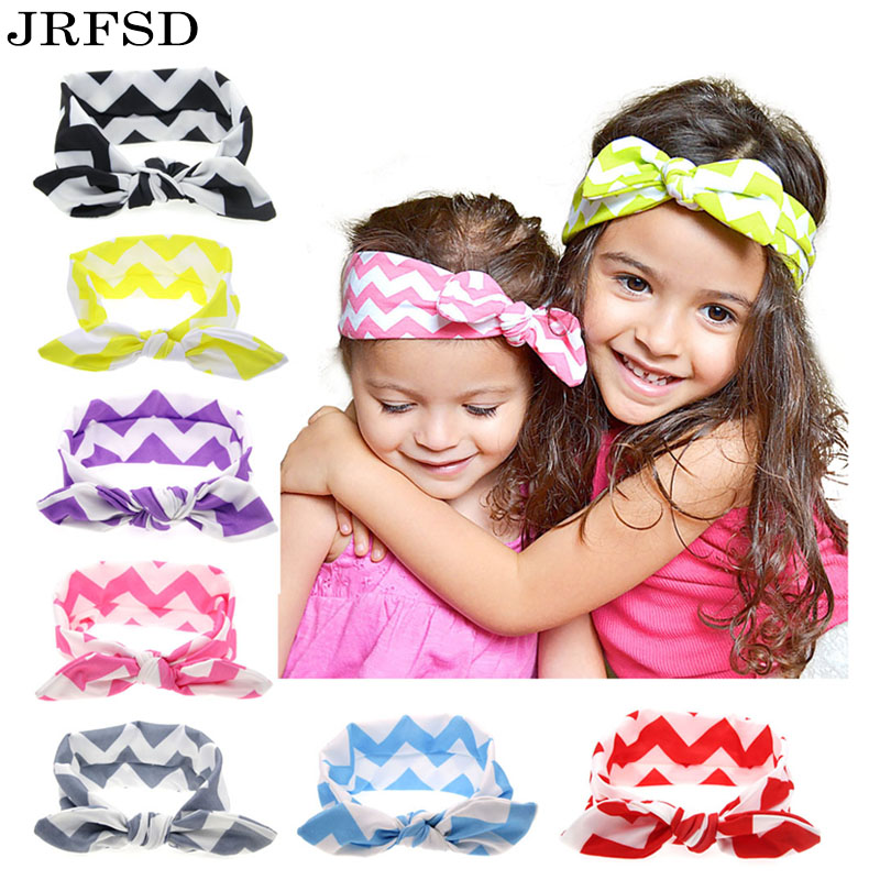 9 Colors Baby Top Knot Headband Girls Wave Striped  Infant Turban Kids Hair Accessories Tie Knot Headwrap H105