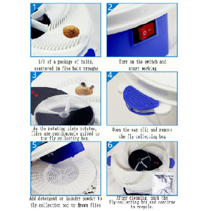 Image 5 - HOT Automatic Flycatcher Device Electric Fly Trap USB Anti Fly Killer Traps Insect Pest Reject Control Catcher Flytrap Catching