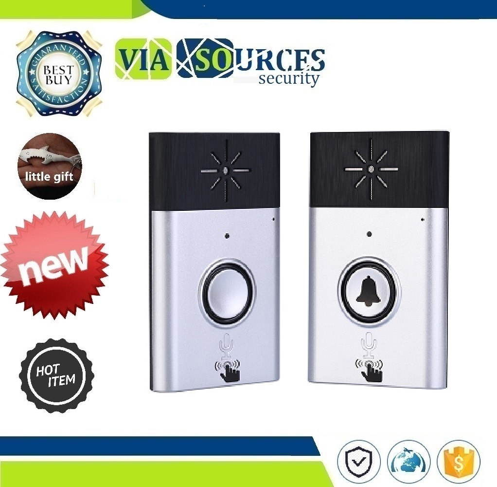 Visitor Calling System audio door phone 1 Set Silvery Color H6 1 to 1 Wireless Voice intercom Video doorphone Indoor door bellVisitor Calling System audio door phone 1 Set Silvery Color H6 1 to 1 Wireless Voice intercom Video doorphone Indoor door bell