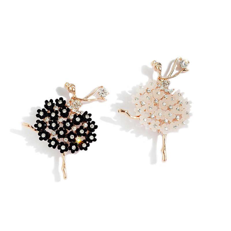 Mode charme fille Grace alliage broche ballerine danse fille broche femmes vêtements sac bijoux cadeau doux broches