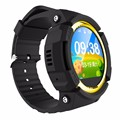 Gps smart watch relógio bebê v12 touchable tela oled sos Local chamada PK Dispositivo Seguro Anti-Perdido Do Monitor Rastreador para o Miúdo Q90/Q80