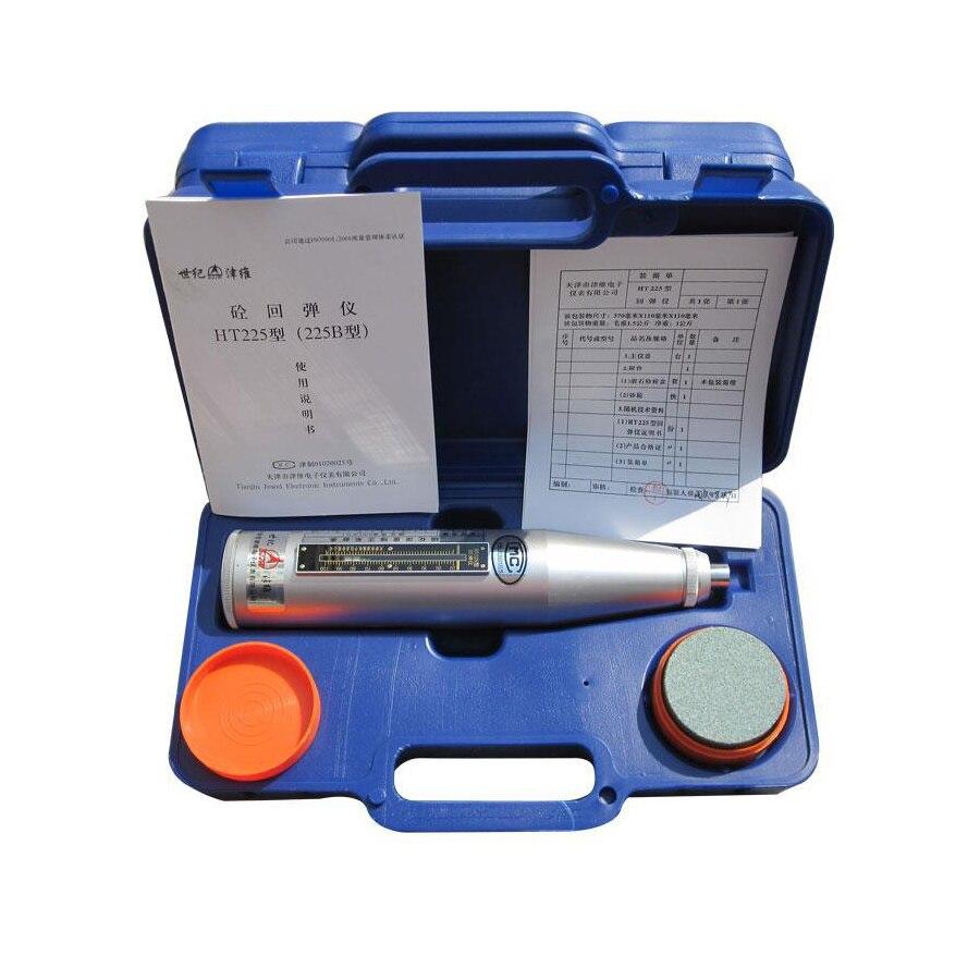 1pc Portable Concrete Rebound Test Hammer Schmidt Hammer Testing Equipment ResiliometerHT-225B (blue Instrument Case) измеритель прочности бетона ada schmidt hammer 225