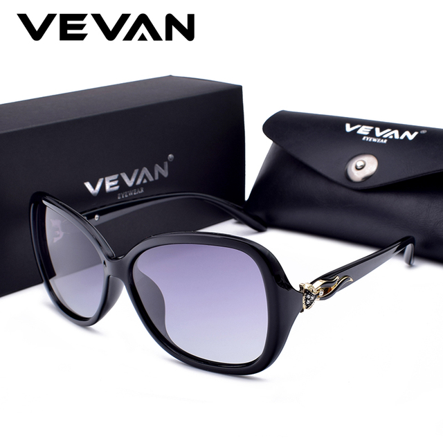 8b8920c4b6 VEVAN 2018 High Quality Fox Square Polarized Sunglasses Women Brand  Designer UV400 Sunglass Gradient Sun Glasses oculos With Box