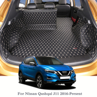 For Nissan Qashqai J11 2016-Present Car Boot Mat Rear Trunk Liner Cargo Floor Carpet Tray Protector Internal Accessories Mats
