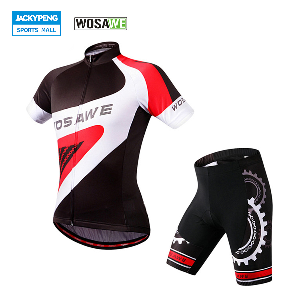 WOSAWE Breathable Quick-dry Men's Summer Cycling Sets Cycling Jersey +EL Pad Shorts MTB Bike Bylcle Shirt Pants Suit 2015 blue fdj team cycling jersey quick dry breathable cycling shirts bike shorts set gel pad cycle maillot culotte full