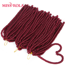 Miss Rola Curly Soft Dread Lock Crochet Hair Extension 14 Roots Synthetic Low Temperature Fiber Braids 1pc/lot 27# 99J#(China)