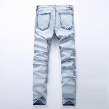 Washed Ripped Men's Hip Hop Jeans 1