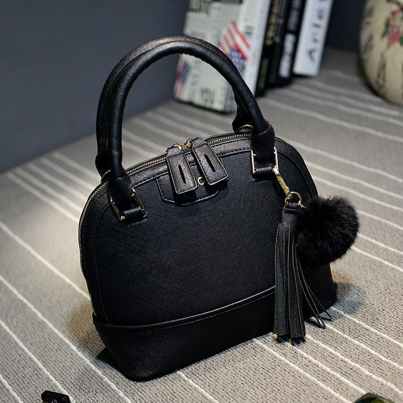 2018 New Women Handbag Fashion Tote Bag PU Leather Shoulder Bag Simple Shell Bags Messenger Crossbody Bag Bolas