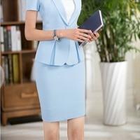 Nouveauté Lumière Bleu Mince De Mode Jupes Pour Femmes D'affaires Work Wear Bureau Dames Slim Hanches Shorts Femelles Plus La Taille 3XL