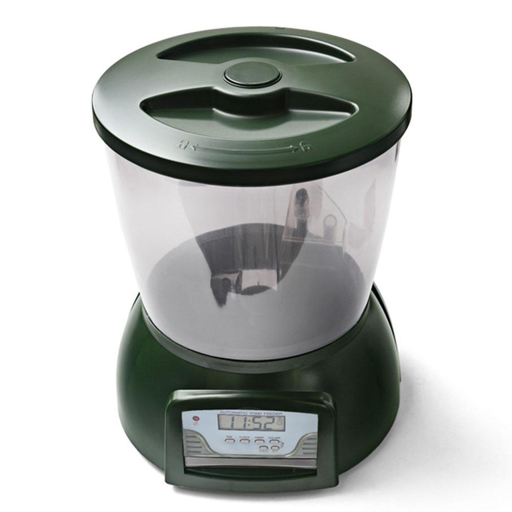 Adeeing Automatique Étang distributeur de nourriture poissons Nourriture pour Poissons Distributeur D'aquarium Numérique Minuterie Chargeur avec LCD