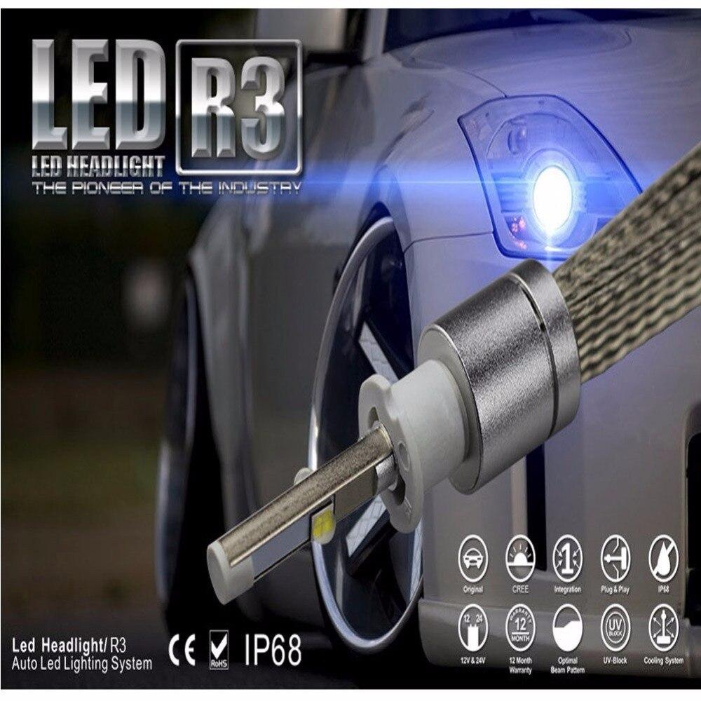 2Pcs Super Bright 9600lm Turbo Led H7 Xenon White 6000K Car LED Headlight Conversion Lamp Kit Cree XHP-50 Chip 4800lm Bulb  yumseen super bright 9600lm h1 xenon white 6000k car led headlight conversion kit lamp cree xhp 50 4800lm bulb 1 years warranty