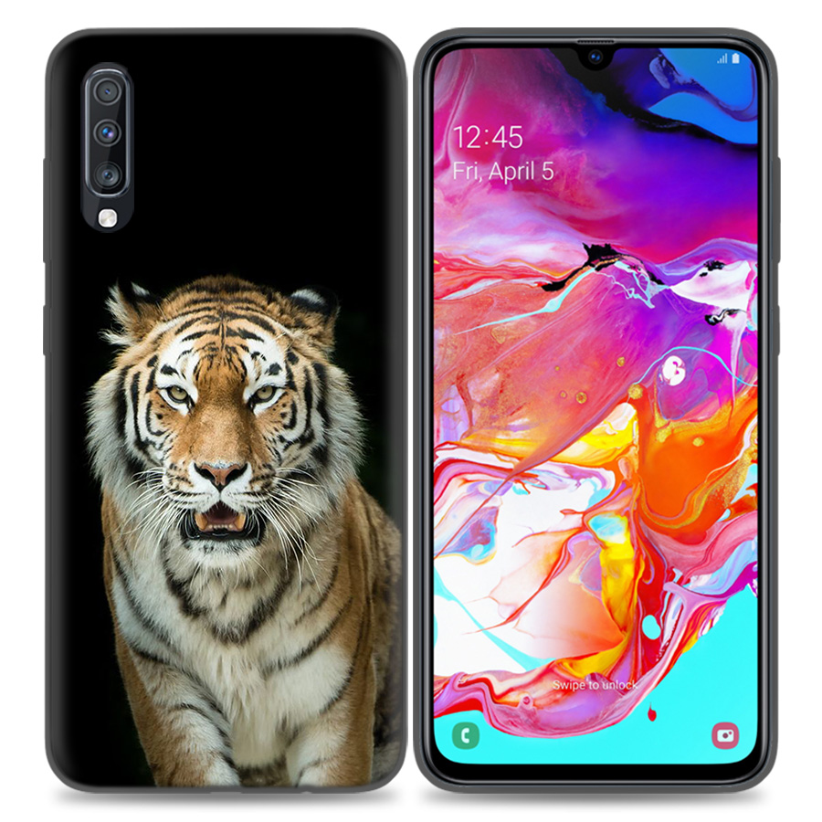 Image 2 - Silicone Case Cover For Samsung Galaxy A50 A80 A70 A40 A30 A20 A20e A10 A9 A8 A7 A6 Plus 2018 Note 10 9 8 tiger Fashion Lovely A-in Fitted Cases from Cellphones & Telecommunications