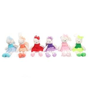 Image 2 - רך בפלאש ארנב צעצועי תינוקות מוביילים רעשנים ילדים באני שינה תינוק בן זוג ממולא בפלאש בעלי החיים צעצועי יילוד Appeaze בובה