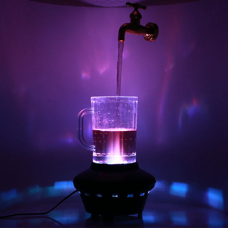 Aletler'ten Alet Parçaları'de Sihirli Musluk Lambası Pratik Sarı Dayanıklı Dekoratif Süsler Sihirli Sahne Asma Musluk Sihirli Cam Lamba Asma Musluklar