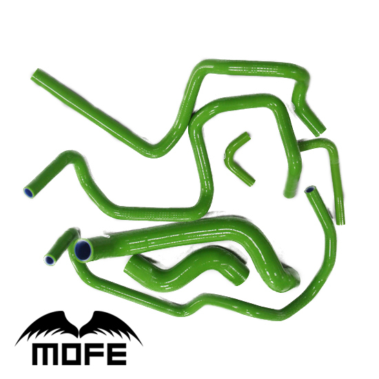 Mofe 7pcs Green silicone coolant Silicone Radiator Hose For Nissan P11 Primera 1995-2002 reinforced silicone radiator