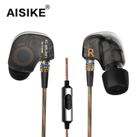 KZ ATE Headphones Latest Original Brand Super Bass Auriculares With Mic 3 5mm Hifi Audifonos Gold