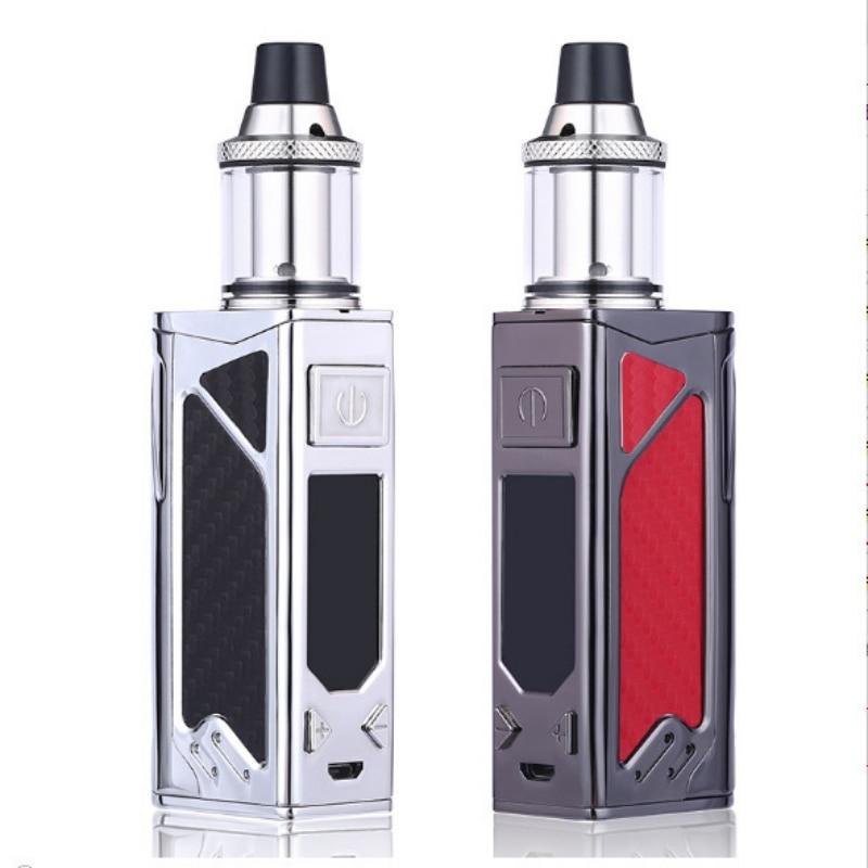 Mode Großer Nebel Rauch Elektronische Zigarette Kit 100 W 2200 mah Batterie Vape Zerstäuber Box Mod Led-anzeige bildschirm Verdampfer kit