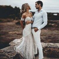 Bbonlinedress Beach Wedding dresses 2019 Mermaid Sweetheart Court Train Lace Beach Wedding Gowns Elegant Bridal Gown Party Dress