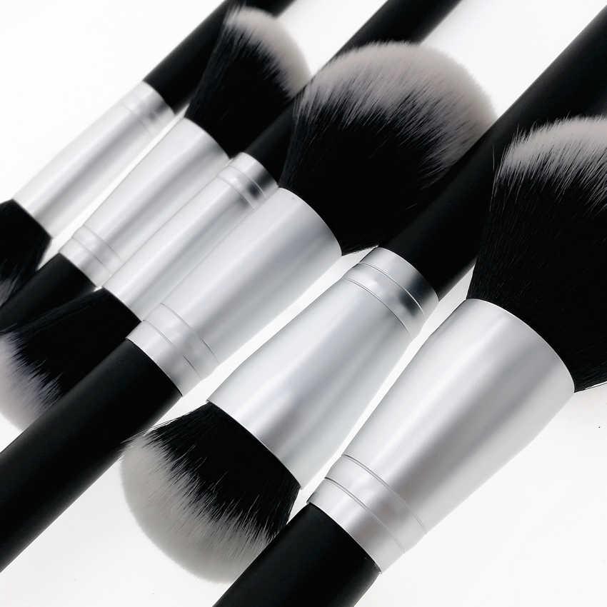Sylyne 18pcs איפור מברשות מקצועי איפור מברשת סט סינטטי שיער פנים עיניים שחור איפור מברשות סט ערכת כלים