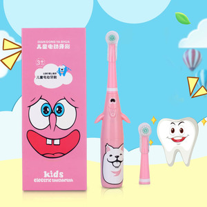 Image 4 - Azdent 3d crianças rotativa escova de dentes elétrica padrão dos desenhos animados para crianças escova de dentes rotativa com 2 cabeças substituição à prova dwaterproof água