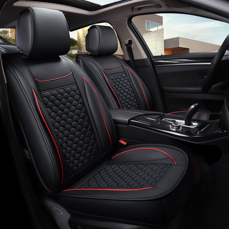 PU leather car seat covers protector auto Seat cushion for Jeep commander renegade cadillac cts xts xt5 ats sls ct5 ct6 escalade
