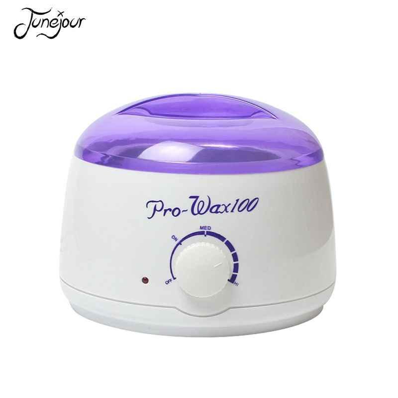 JUNEJOUR, профессиональная женская машинка для удаления волос 100 Вт, небольшой восковой горшок, мини восковая машина с теплым нагревом, электрический прибор для удаления волос ЕС