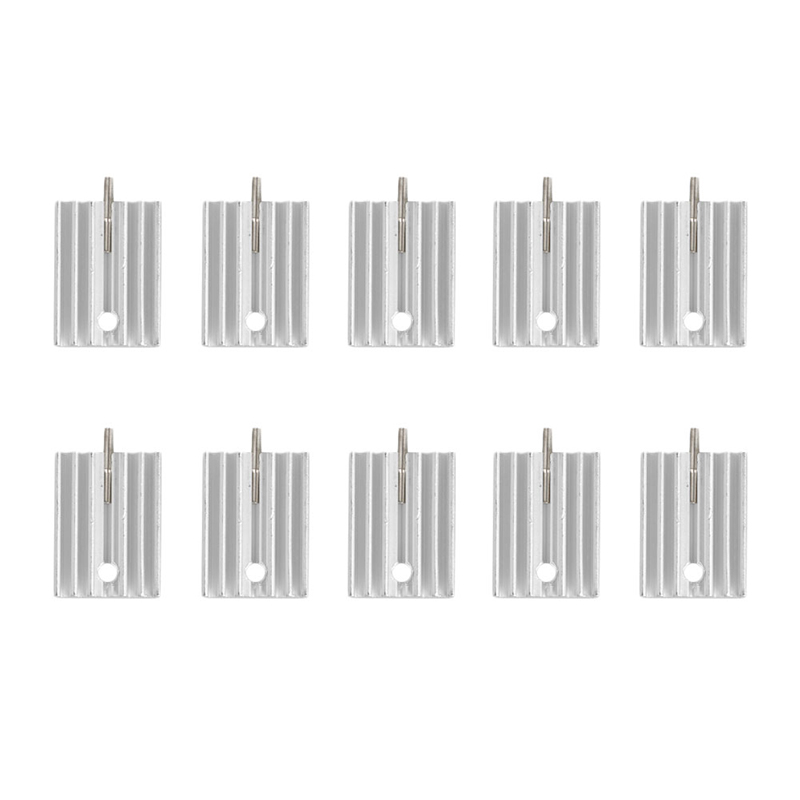10Pcs Aluminum Heatsink Transistor Radiator With Needle For Transistors TO-220 D14 chainsaw piston assy with rings needle bearing fit partner 350 craftsman poulan sm4018 220 260 pp220 husqvarna replacement parts