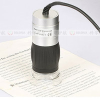 2.1 Million Pixels USB Electronic Digital LED Pocket Handheld Microscope 40x 200 Times Magnification Magnifier Metal with Scale
