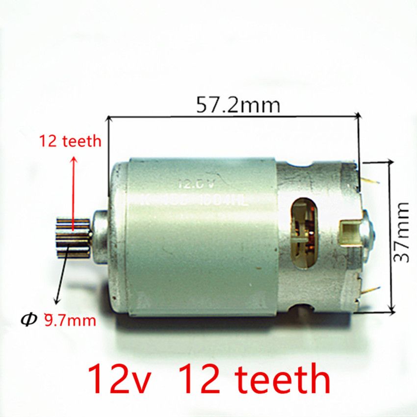 12 Teeth Motor 12V For BOSCH GSR12V GSR12-2 GSB12VE-2 GDR12V  Motor Cordless Drill набор bosch дрель аккумуляторная gsb 18 v ec 0 601 9e9 100 адаптер gaa 18v 24
