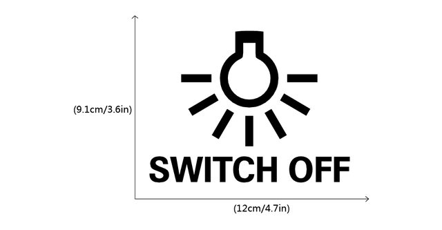 US $0 7 |Save Electricity Switch Off Light Switch Sticker Creative Lamp  Bulb Vinyl Wall Sticker for Kids Room Bedroom Home Decor-in Wall Stickers  from