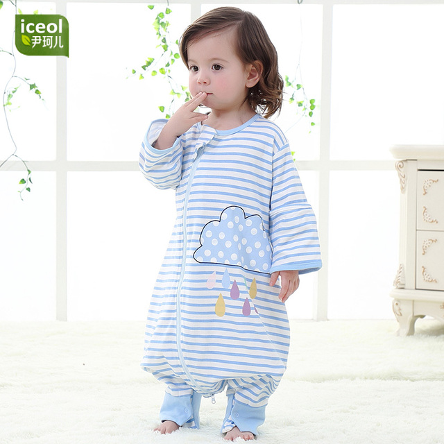 456b3556b Stripe Children Zipper Sleeping Bag 100% Organic Cotton Summer ...