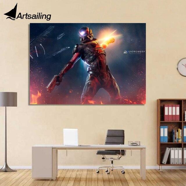 Aliexpress.com : Buy 1 Piece Canvas Art Canvas Painting Mass Effect ...