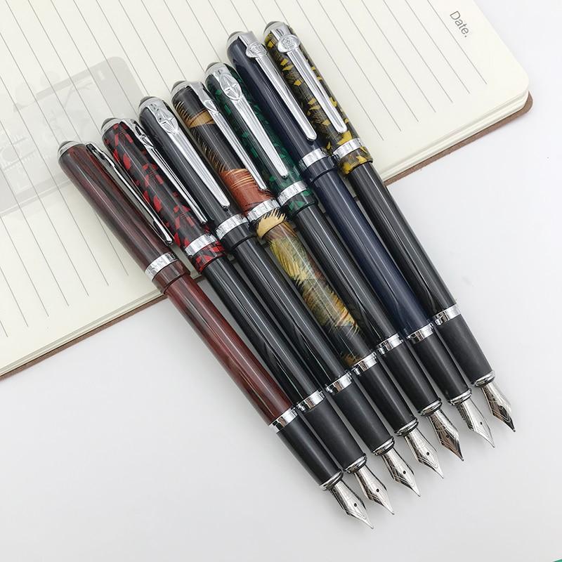 Duke pluma Metal 0,5mm Fine Nib Iridium Punto Rojo Negro Azul Oscuro regalo con una bolsa de terciopelo oficina 1 pc/lot