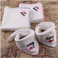 5pcs Lovely Mama Papa  Care Towel 100% Cotton Baby Newborn Soft  Hand Kerchief  Washcloths  Two Layers of Gauze of Small Towel