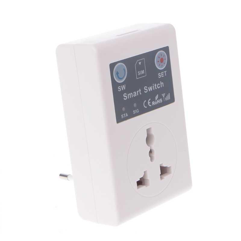 ЕС/Великобритания 220 в телефон RC пульт дистанционного управления беспроводной смарт-переключатель GSM гнездо разъема питания для дома бытовой техники Горячая продажа W315