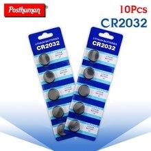 10 шт. батарейки cr2032 3 в CR 2032 DL2032 KCR2032 ECR2032 литиевая батарея для часов с пультом дистанционного управления
