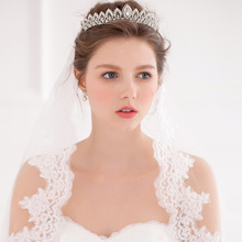 New Fashion Rhinestone Bridal Tiara Silver Wedding Hair Crown Princess Accessories Women Party Prom Headpiece