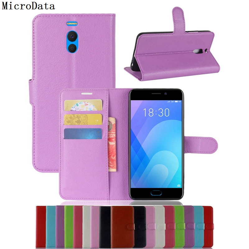 MicroData Luxury PU Leather Flip Case For Meizu M6 Note 5.5 inch Wallet Stand Leather Case Cover For M6 Note 5.5 inch