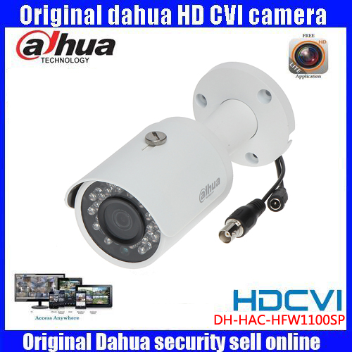 HD720p Dahua HDCVI Camera 1MP DH-HAC-HFW1100SP HDCVI IR Bullet  Security Camera CCTV IR distance 30m HAC-HFW1100SP dahua hdcvi 1080p bullet camera 1 2 72megapixel cmos 1080p ir 80m ip67 hac hfw1200d security camera dh hac hfw1200d camera