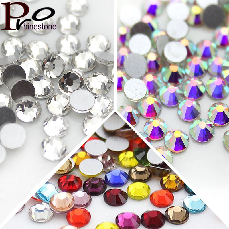 SS6 1440pcs Nail Art Rhinestones For Nails 3D Manicure Decoration Non HotFix/Glue On Nails Crystal Flatback Stone DIY Decoration super shiny 5000p ss16 4mm crystal clear ab non hotfix rhinestones for 3d nail art decoration flatback rhinestones diy