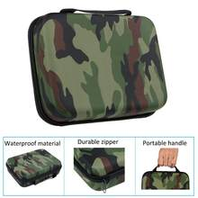 Camouflage EVA Waterproof Sports Action Camera Bag for Gopro Hero 7 6 SJ4000 SJ8 xiaoyi DJI Osmo Action Case for Travel Storage(China)