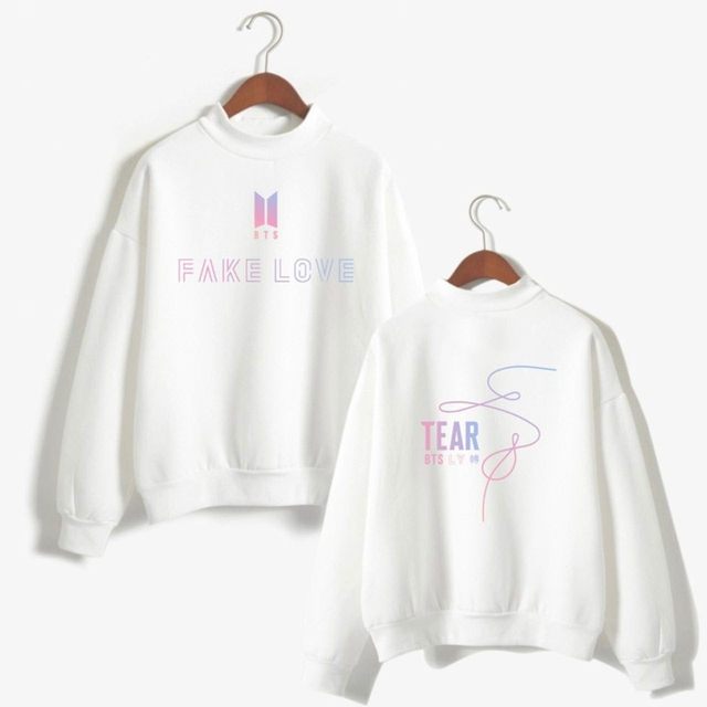 72223d8a6f9ef Kpop BTS Bangtan Boys FAKE LOVE Jumper Tear Pullover women Sweatshirt JIMIN  JIN V RAP MONSTER unisex lover sweatshirts