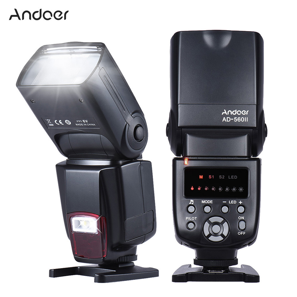 Andoer AD 560 II Camera Flash Speedlite With Adjustable LED Fill Light Universal Flash for Canon Nikon Olympus Pentax Cameras|flash speedlite|flash for canoncamera flash - AliExpress