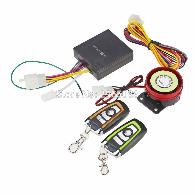 Dc 12v Motorcycle Alarm System Scooter Lock Motorbike Anti