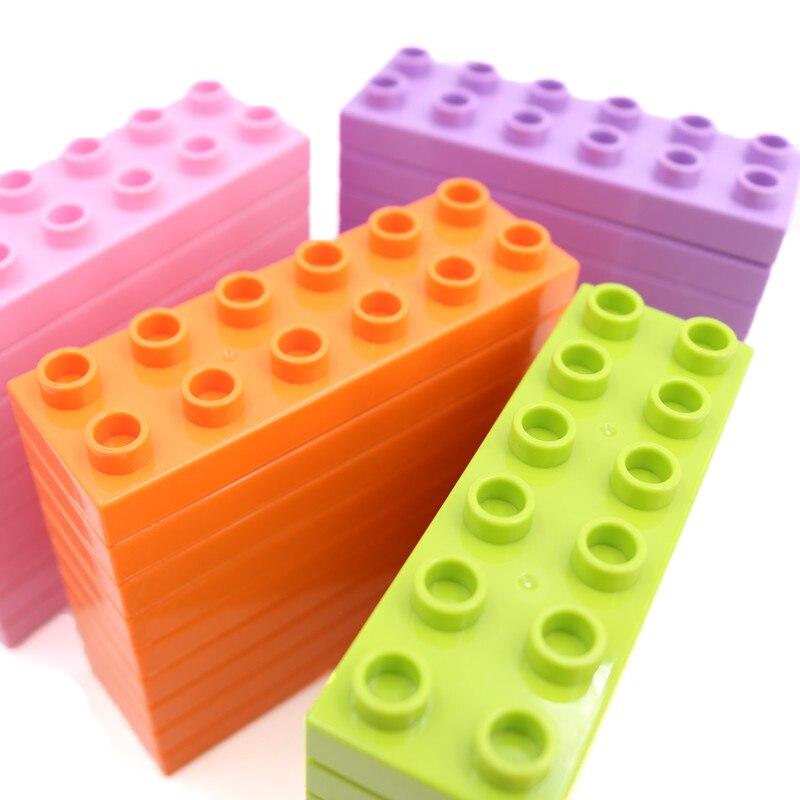 Big Size Bricks Set City DIY 2*6 Creative Bricks Toys Children Educational Building Block Brick Compatible With L Brand Duploe