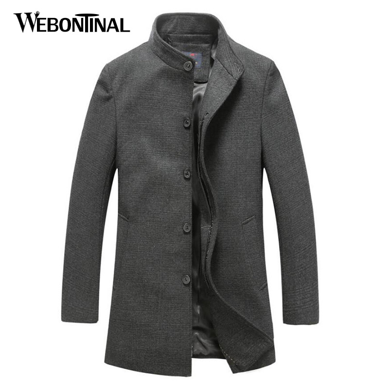 a08dd8a1a7ac ENWAYEL Top Qualität Wolle Blends männer Jacke Mantel Mäntel Männlichen  Oberbekleidung Graben Mantel Lange stil Autum