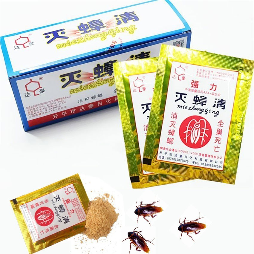50Pcs Effective Cockroach Killing Bait Powder Home Cockroach Repeller Killer Anti Pest Cockroach Powder Pest Control Products