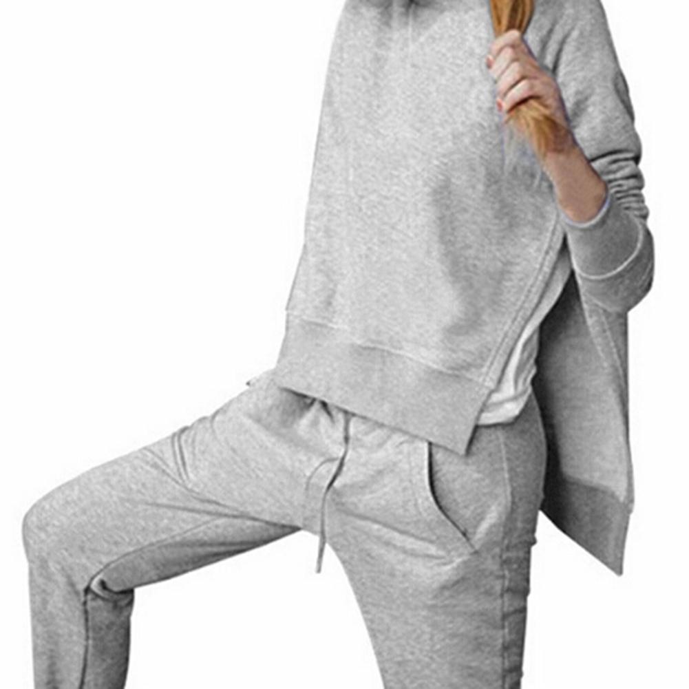 ✔  Спортивный костюм женский пуловер йога комплект спортивная одежда женщины с длинным рукавом разрез т ✔
