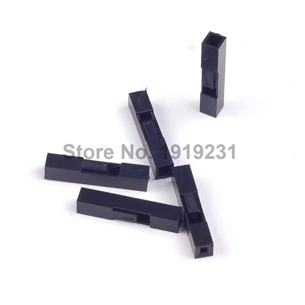 200PCS 2.54mm 1P Dupont Plastic Shell Head Plug Dupont Housing <font><b>Pin</b></font> <font><b>Header</b></font> <font><b>Jumper</b></font> Wire Housing Connector image